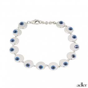 Adler 18k White Gold Eye Bracelet